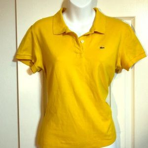 Women's yellow Lacoste polo